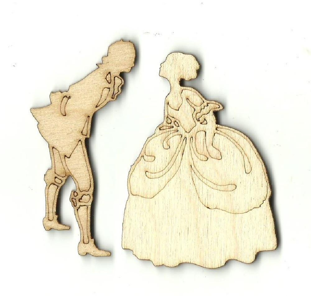 Victorian Couple - Laser Cut Wood Shape Ppl7 Craft Supply
