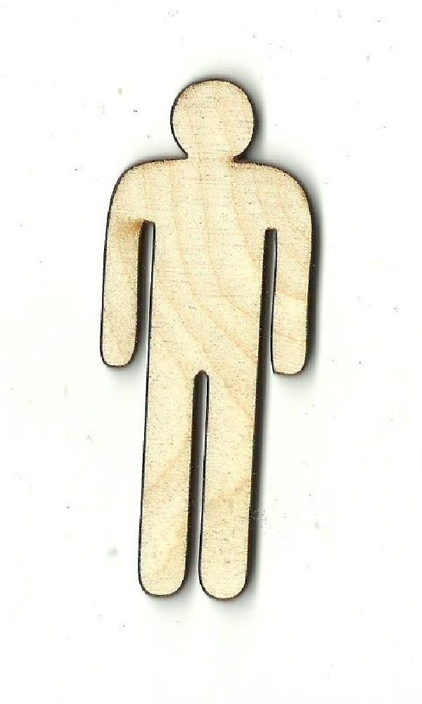 Male Sign - Laser Cut Wood Shape Ppl8 Craft Supply