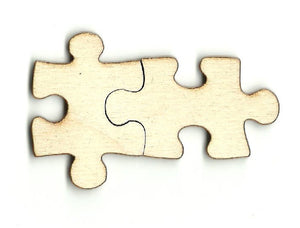 Pair of Puzzle Pieces - Laser Cut Wood Shape PZL2