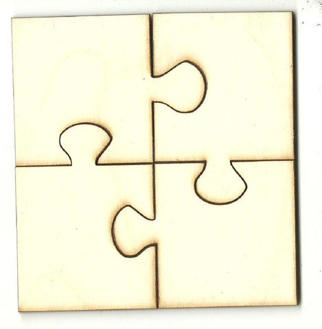 Four Piece Puzzle - Laser Cut Wood Shape Pzl3 Craft Supply