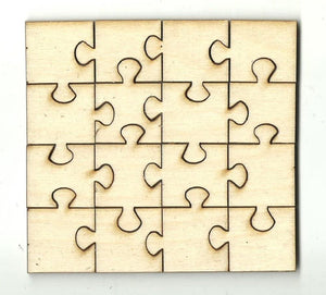 Sixteen Piece Puzzle - Laser Cut Wood Shape Pzl4 Craft Supply