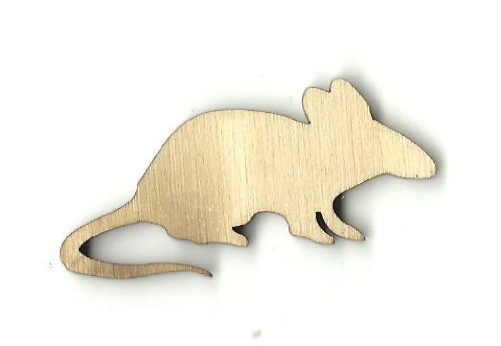 Rat - Laser Cut Wood Shape Rdt16 Craft Supply