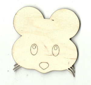 Mouse - Laser Cut Wood Shape Rdt5 Craft Supply