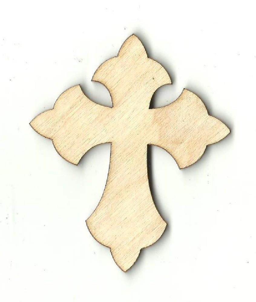 Cross - Laser Cut Wood Shape Rel15 Craft Supply