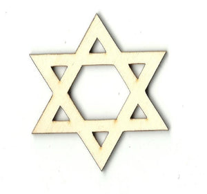 Star Of David - Laser Cut Wood Shape Rel19 Craft Supply