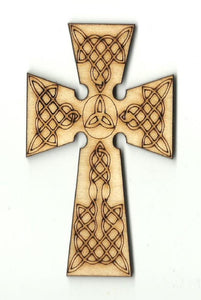 Cross - Laser Cut Wood Shape Rel26 Craft Supply
