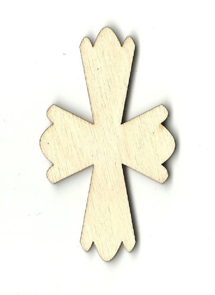 Cross - Laser Cut Wood Shape Rel35 Craft Supply