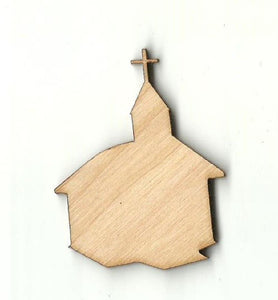 Church - Laser Cut Wood Shape Rel55 Craft Supply