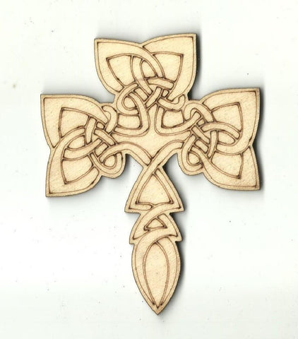 Celtic Cross - Laser Cut Wood Shape Rel69 Craft Supply