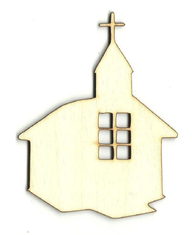 Church - Laser Cut Wood Shape Rel66 Craft Supply