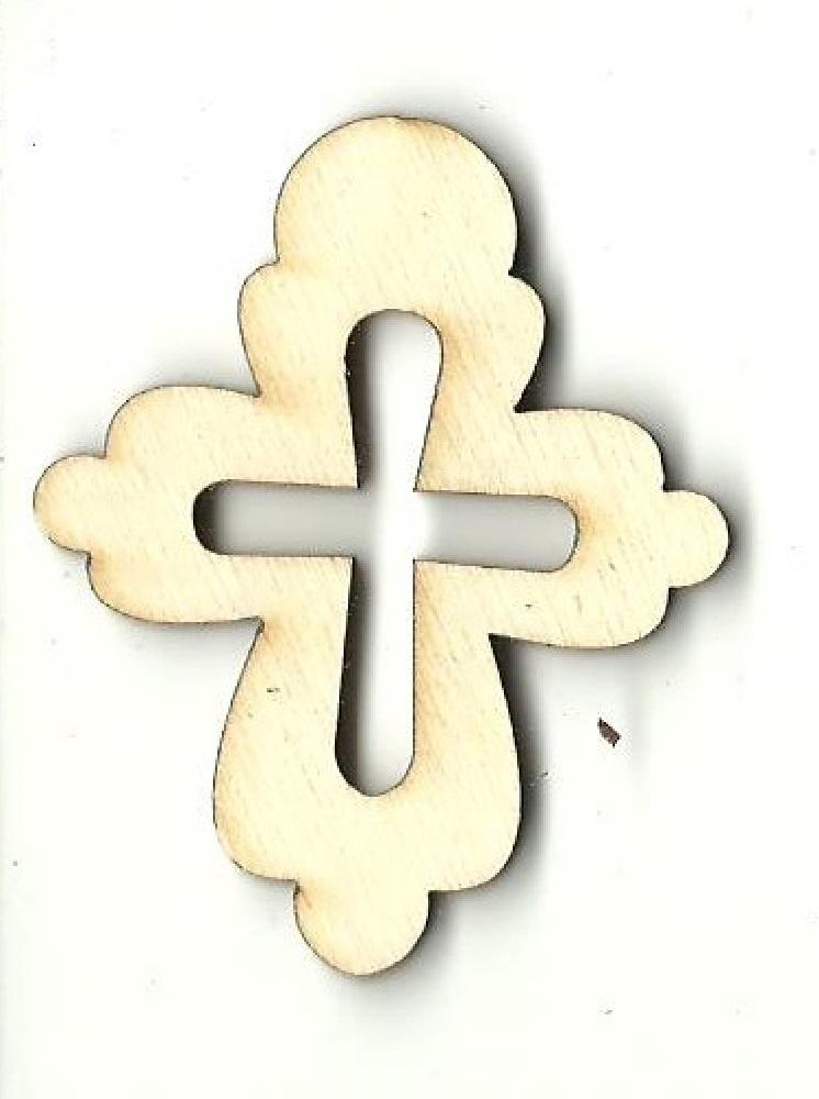 Cross - Laser Cut Wood Shape Rel72 Craft Supply