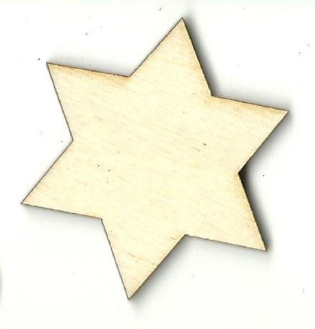 Star Of David - Laser Cut Wood Shape Rel73 Craft Supply