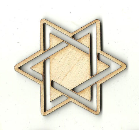 Star of David - Laser Cut Wood Shape REL74
