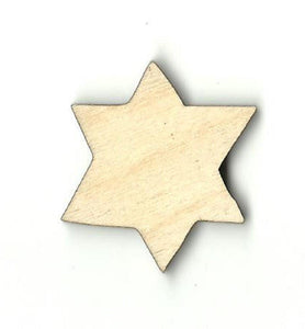 Star Of David - Laser Cut Wood Shape Rel64 Craft Supply
