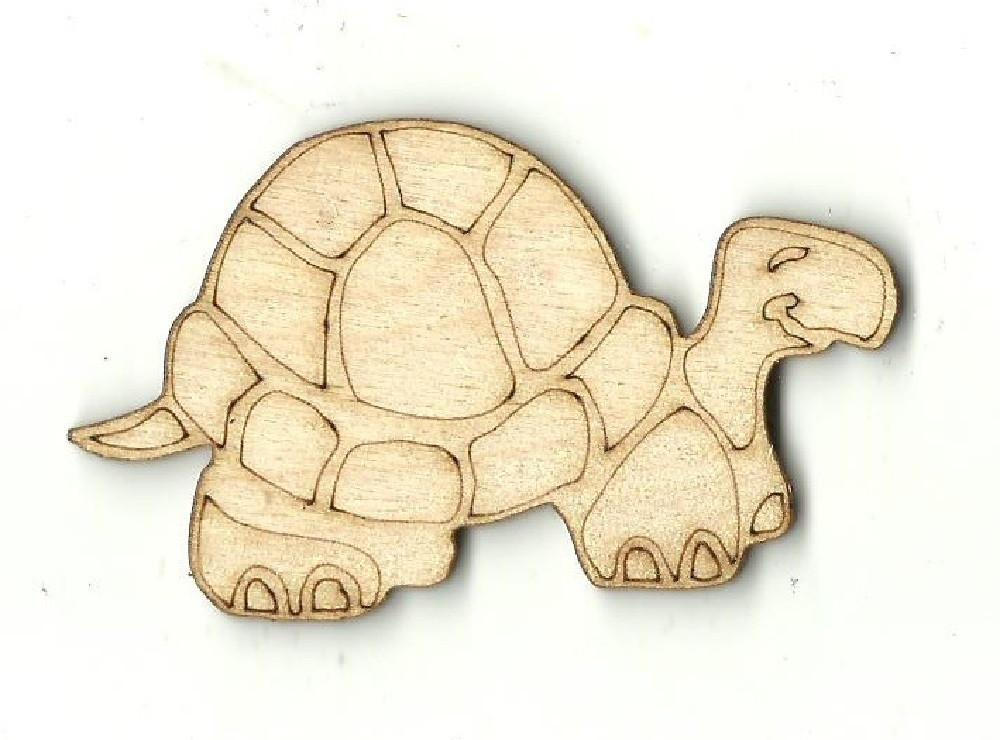 Turtle - Laser Cut Wood Shape Rep10 Craft Supply