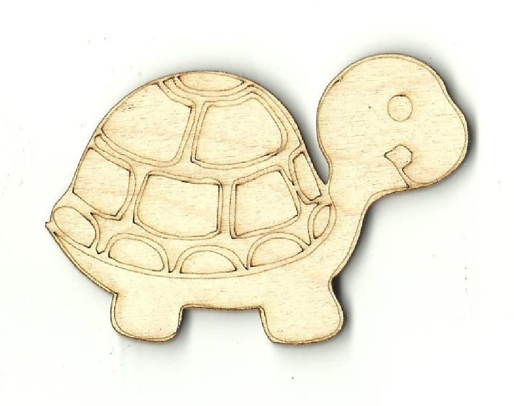 Turtle - Laser Cut Wood Shape Rep11 Craft Supply
