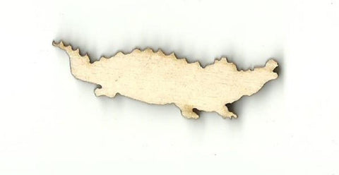 Alligator Crocodile - Laser Cut Wood Shape Rep19 Craft Supply