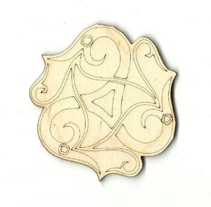Snake Design - Laser Cut Wood Shape Rep1 Craft Supply