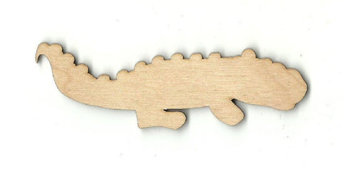Alligator Crocodile - Laser Cut Wood Shape Rep29 Craft Supply