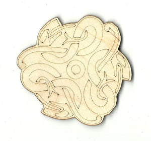 Snake Design - Laser Cut Wood Shape Rep2 Craft Supply
