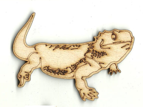 Bearded Dragon Lizard - Laser Cut Wood Shape REP55