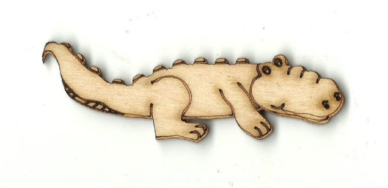 Crocodile - Laser Cut Wood Shape Rep7 Craft Supply