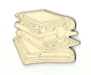 Books - Laser Cut Wood Shape Scl1 Craft Supply