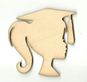 Graduation Girl - Laser Cut Wood Shape Scl22 Craft Supply