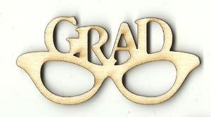 Grad Glasses - Laser Cut Wood Shape Scl25 Craft Supply