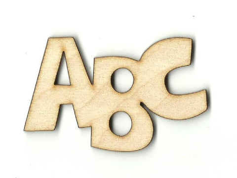 ABC  - Laser Cut Wood Shape SCL19