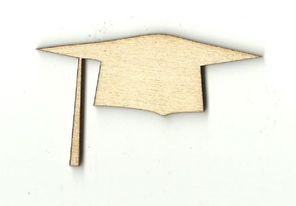 Graduation Cap - Laser Cut Wood Shape Scl3 Craft Supply