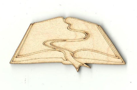 Book - Laser Cut Wood Shape Scl5 Craft Supply