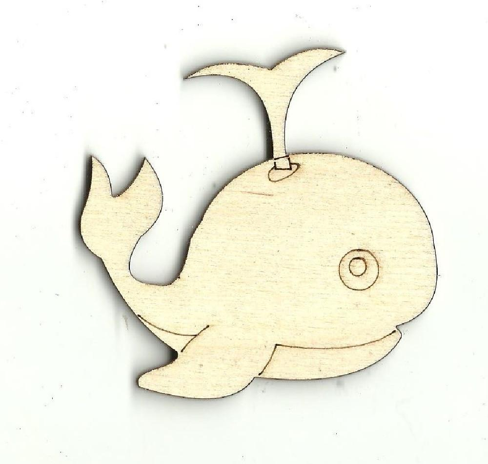 Whale - Laser Cut Wood Shape Sea10 Craft Supply