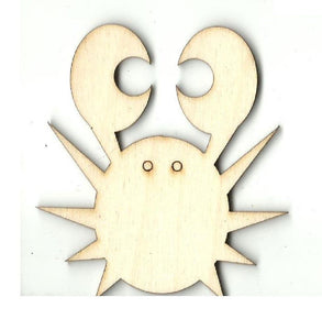 Crab - Laser Cut Wood Shape Sea111 Craft Supply