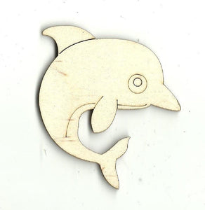 Dolphin - Laser Cut Wood Shape Sea11 Craft Supply
