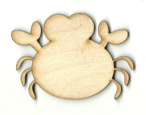 Crab - Laser Cut Wood Shape SEA144