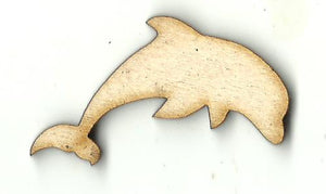 Dolphin - Laser Cut Wood Shape SEA146