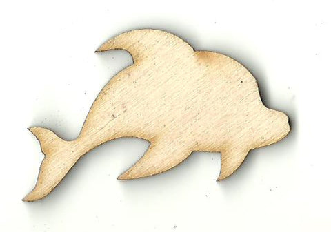 Dolphin - Laser Cut Wood Shape SEA149