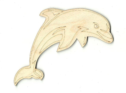 Dolphin - Laser Cut Wood Shape Sea29 Craft Supply