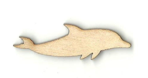 Dolphin - Laser Cut Wood Shape Sea42 Craft Supply