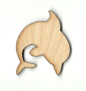 Dolphin - Laser Cut Wood Shape Sea45 Craft Supply