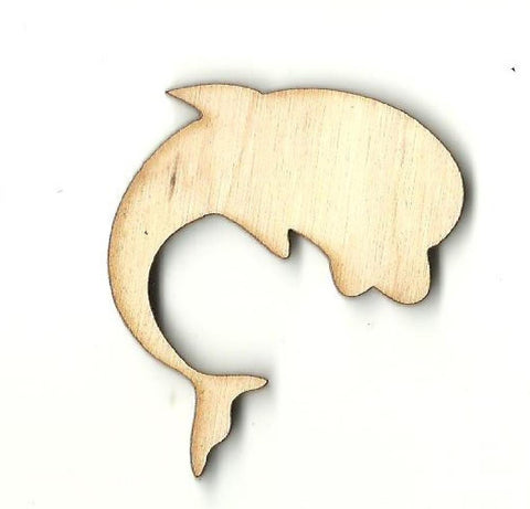 Dolphin - Laser Cut Wood Shape Sea47 Craft Supply