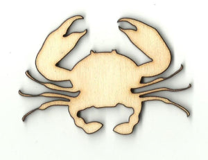 Crab - Laser Cut Wood Shape Sea48 Craft Supply