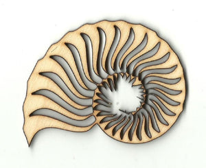 Shell - Laser Cut Wood Shape Sea52 Craft Supply