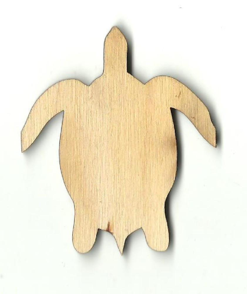 Sea Turtle - Laser Cut Wood Shape Sea55 Craft Supply