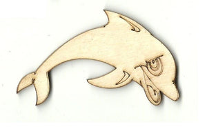 Dolphin - Laser Cut Wood Shape Sea79 Craft Supply