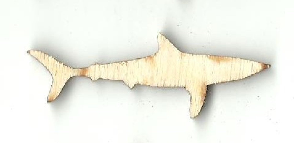 Shark - Laser Cut Wood Shape Sea92 Craft Supply