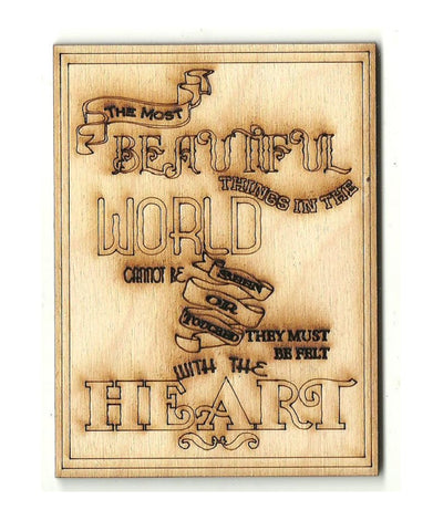 Beautiful World Sign - Laser Cut Wood Shape SGN108