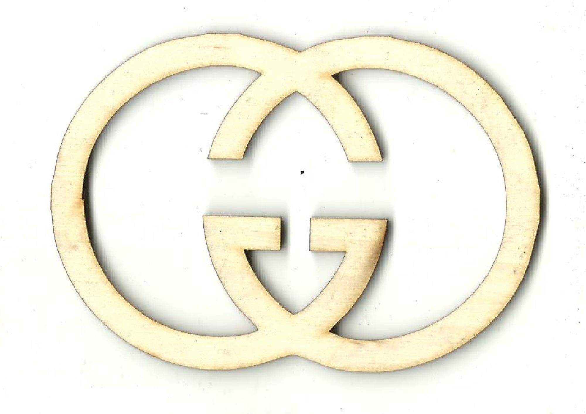 Double G - Laser Cut Wood Shape SGN112