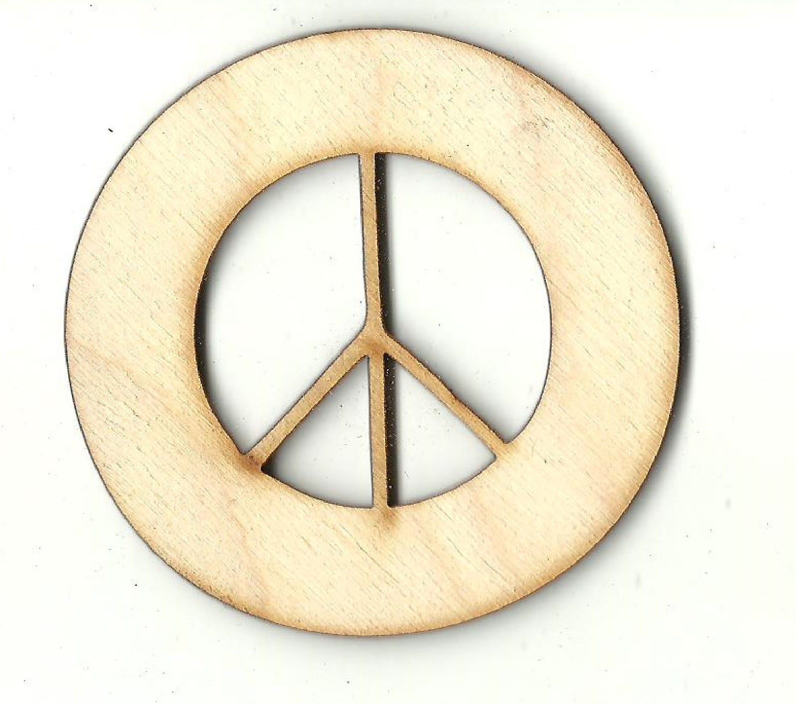 Peace Sign - Laser Cut Wood Shape SGN115